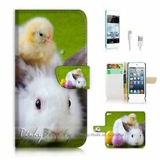 iPod Touch 5 iTouch 5 Flip Wallet Case Cover P2359 Bunny Rabbit