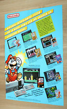 Nintendo pubblicità ad Flyer NES Super Mario World Donkey Kong The Legend of Zelda