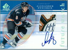 2005-06 SP FUTURE WATCH ALEXANDER OVECHKIN ROOKIE RC AUTO CAPITAL BUILDING PATCH