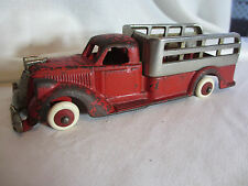 VINTAGE 1930s HUBLEY TOYS OF LANCASTER PA CAST IRON STAKE BODY TRUCK TOY 7""
