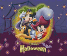 "Disney's ""Halloween"" with Mickey & Minnie Mouse, & Pluto Cross Stitch Pattern CD"