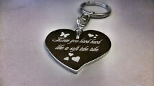 Personalised Large Heart Keyring - With Photo & Message