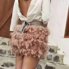 STRADIVARIUS FEATHER SKIRT PINK BLOGGERS SIZE M