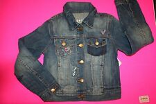 NWT GAP KIDS TRUE COLORS DESTRUCTED 1969 DENIM EMBROIDERED JEAN JACKET SMALL 6-7