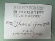 A5 Gift Table Post Box Thank You Table Decoration Wedding Party GREY (second*)
