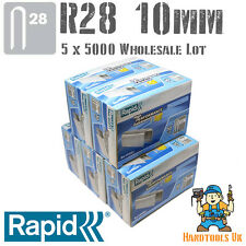 5 X 5000 rápida R28 10 Mm Cable Grapas paquete a granel para venta al por mayor