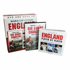 World Cup Legends England SIR BOBBY CHARLTON - GASCOIGNE - DVD AND BOOK NEW