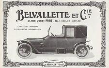 PUBLICITE  AUTOMOBILE BELVALLETTE et Cie   CAR  Ad 1913 - 1Hb
