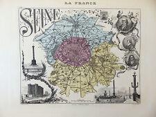 LA FRANCE ET SES COLONIES DÉPARTEMENT DE LA SEINE  EDT 1874 VOIR DETAIL