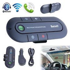 Slim Magnetic Bluetooth Wireless Speaker Handsfree In Car Phone Kit Visor Clip