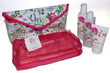Crabtree & Evelyn Rosewater Women Gift Set Cosmetic Travel Bag Lotion Cream NEW
