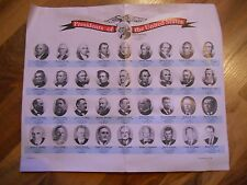 Old Vintage Presidents of the United States 1789-1969 Pics Info Frame it Collage
