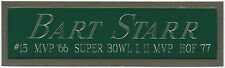 BART STARR PACKERS NAMEPLATE FOR AUTOGRAPHED Signed HELMET-JERSEY-FOOTBALL-PHOTO