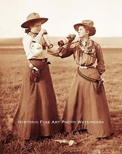 OLD WEST COWGIRLS RANCHERS VINTAGE PHOTO GUNS WHISKEY 8x10 #21593