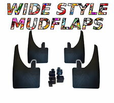 4 X NEW QUALITY WIDE MUDFLAPS TO FIT  Kia Rio FREE CLAMPS