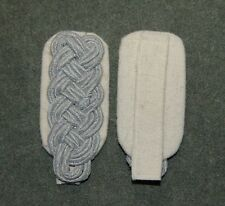 German Army Major Shoulder Boards Infantry / White