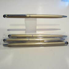 Set of 4 TERZETTI Model SLIM PLUS -GOLD- Slim Ballpoint Pen Conductive Tip
