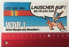 Aufkleber/Sticker: WDR 1 Guten Morgen Aus Düsseldorf - Lauscher Auf (170516122)