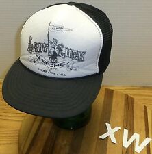"VINTAGE NATCHEZ LADY LUCK CASINO ""UNDER THE HILL"" TRUCKERS STYLE HAT"" VGC"