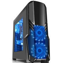 PC Gehäuse CiT G Force Gaming Case mit  3x 15 blaue LED  120mm FAN – Schwarz
