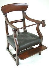 B295 Antique Scottish Early 19th Century Mahogany Child's High Chair