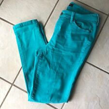 Liverpool Jeans Co Penny Ankle Skinny Turquoise Blue Cotton Rayon Denim Jeans 10