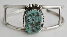 VINTAGE NAVAJO STERLING SILVER TURQUOISE NUGGET CUFF BRACELET