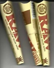 RAW CONES KING SIZE NATURAL CIGARETTE PAPERS 3pks - 9 cones