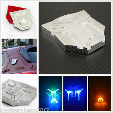Solar Energy LED Car Flashing Strobe Light Transformers Badge Sticker For Toyota