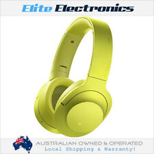 SONY MDR100ABN H.EAR ON WIRELESS BLUETOOTH NOISE CANCELLATION HEADSET YELLOW