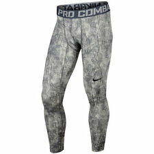 Nike sz L Men's Pro Hyperwarm Lite Compression Shred Tights NEW 688736-054 Grey