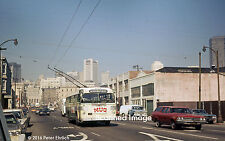 Original Photograph: Muni Twin Coach trolleybus 619 appr 4th St./Harrison (5x7)