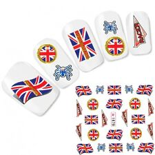 Tattoo Nagel Sticker Großbritannien Flagge Fußball Flag Nail Art Water Decal