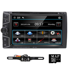 "CAMERA+6.2"" Double Din In-dash Car Stereo DVD CD Player GPS Navi Bluetooth Radio"