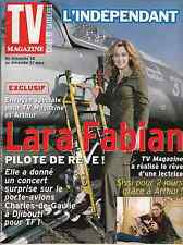TV MAGAZINE L'INDEPENDANT MARS 2002 *LARA FABIAN*