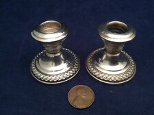 Pair Of La Pierre Sterling Silver Console Candlestick Miniatures (Y3)