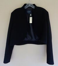 NWT Lanvin 2015 $2445 Size 46 14 12 Black Wool Cropped Bolero Jacket New