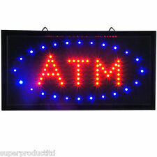 Animated ATM LED Neon Light cash Sign Bright Restaurant Shop store blue red