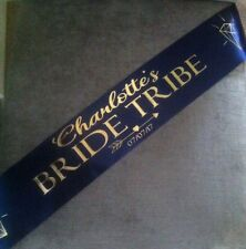 Personalised Bride Tribe Bride To Be Hen Party Modern Metallic Gold Sash
