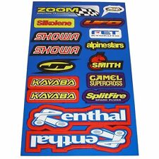 Assorted Sticker Sheet Stickers Assorted Renthal, Splitfire, Showa BC28103 T