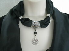 Pentacle Jewelry Scarf, wiccan pagan witch witchcraft pentagram wicca pentagram