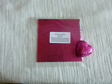 50 Square Foil Wrappers in Fuchsia for Chocolates & Sweets.80mm x 80mm.