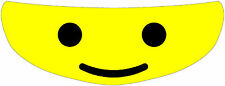 Lego Man Helmet Visor Sticker Motorcycle Yellow Shield Decal Tint  NEW !