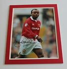 DANNY WALLACE Manchester United HAND SIGNED Autograph Photo Mount + COA Proof
