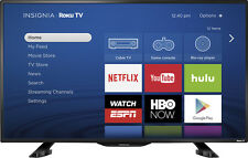 "Insignia- 39"" Class (38.5"" Diag.) - LED - 1080p - Smart - HDTV Roku TV - Black"