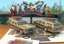 Papercraft VACATION MOVIE FAMILY TRUCKSTER Ford wagon 1/27th PaperCar EZU-build