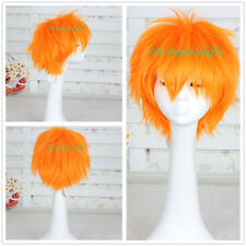 Naruto Pain Kurosaki Ichigo BLEACH Orange Anime Short Cosplay Costume Wig CC154