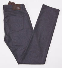 NWT $550 PT01 Slim Charcoal Gray Five Pocket Brushed Flannel Wool Pants 34 PT05