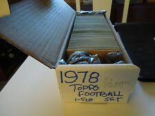 1978  Topps Football Complete Set 528 cards EX-Mint  Lot card Collectio