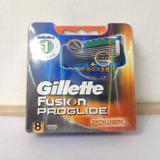 Gillette Fusion Proglide Power Razor Blades 8pcs-pack Fits Flexball, SilverTouch